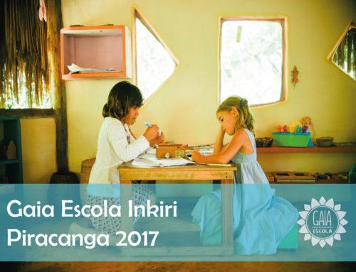 Gaia Escola Inkiri Piracanga começa em fevereiro de 2017