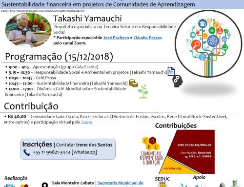 Seminário de sustentabilidade financeira para comunidades de aprendizagem